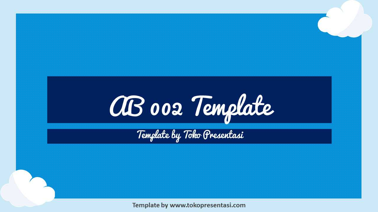 Animated Background Powerpoint Template Cloud  Jasa