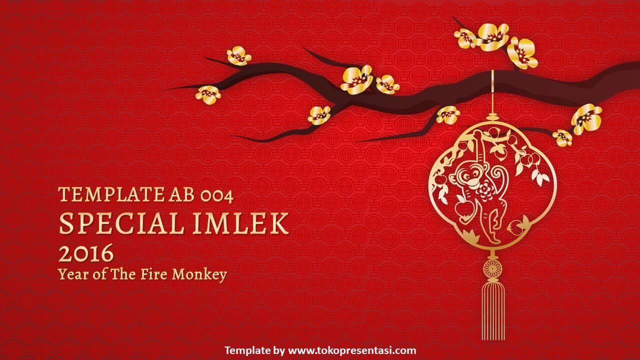 AB004 - Free Powerpoint Template Chinese New Year (Fire