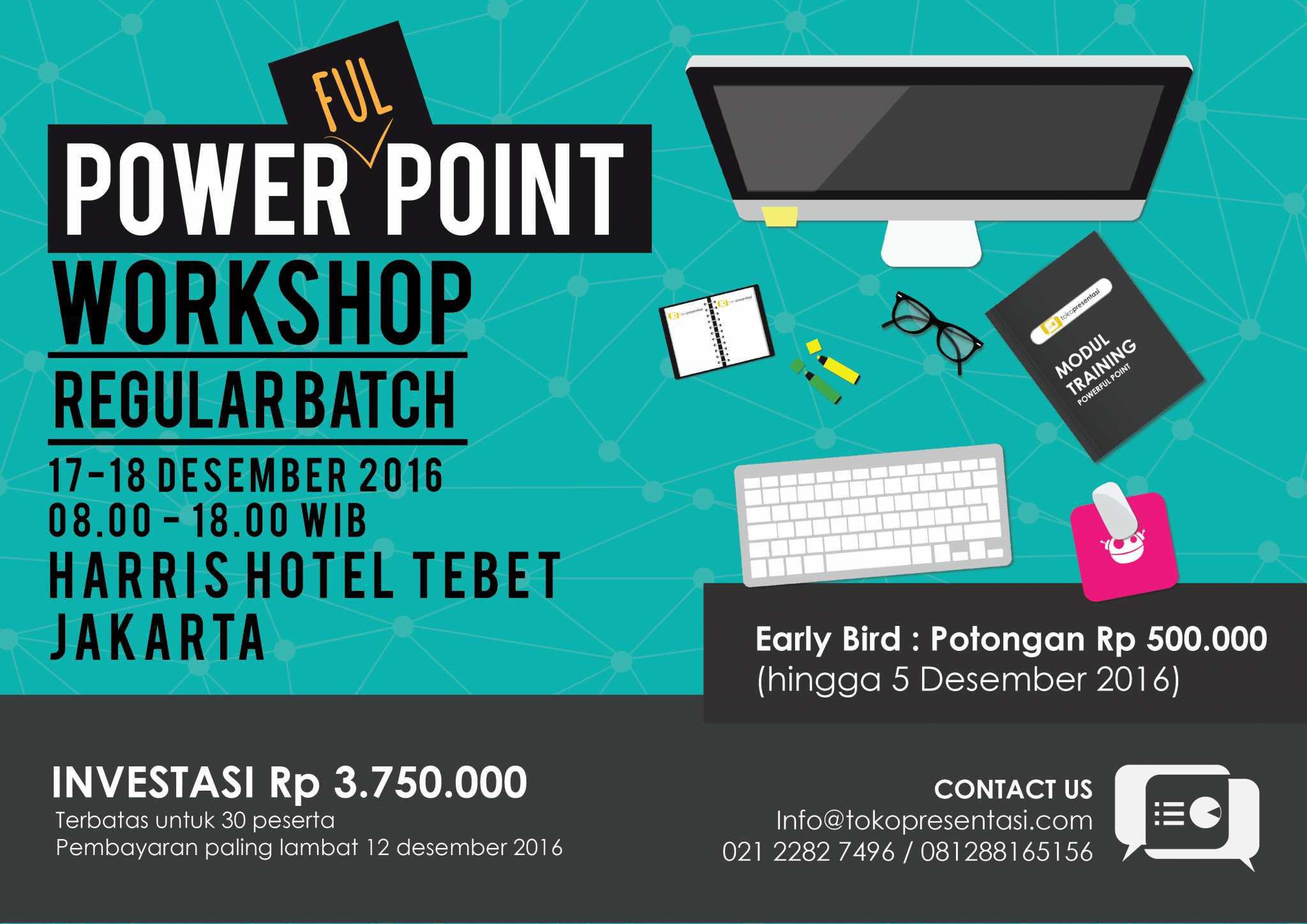 post powerfulpoint workshop the champion batch jasa desain ppt desain presentasi desember
