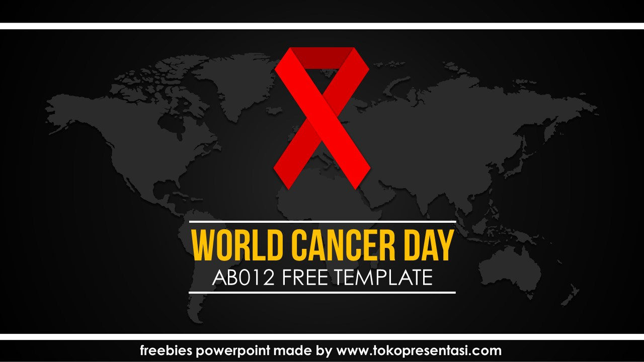 post template powerpoint animasi jasa ppt desain presentasi free template world cancer day