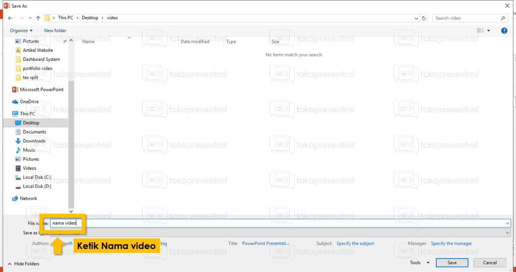 tokopresentasi.com tutorial konversi powerpoint ke video 3