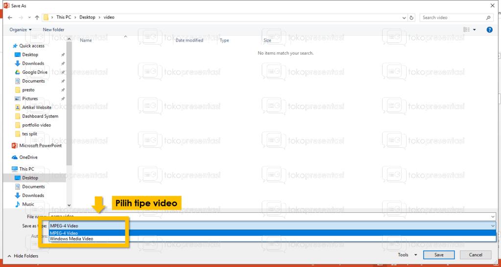 tokopresentasi.com tutorial konversi powerpoint ke video 4