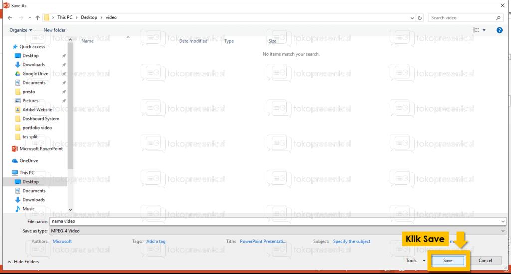 tokopresentasi.com tutorial konversi powerpoint ke video 5