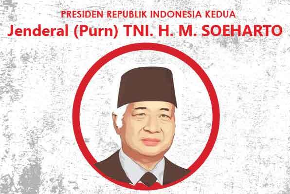 cover Infografis Presiden RI kedua Jenderal (Purn) TNI. H. M. SOEHARTO jasa infografis tokopresentasi