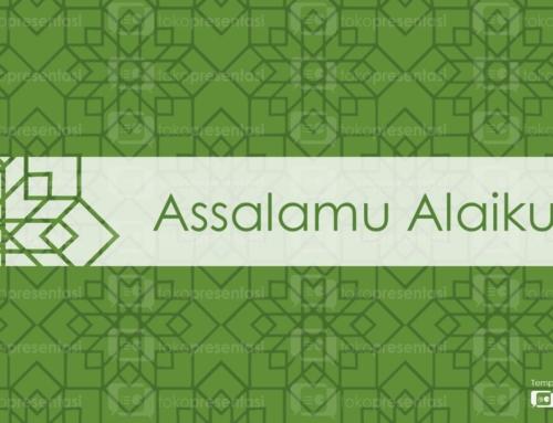 slide pembuka salam : Assalamualaikum (BG 005)