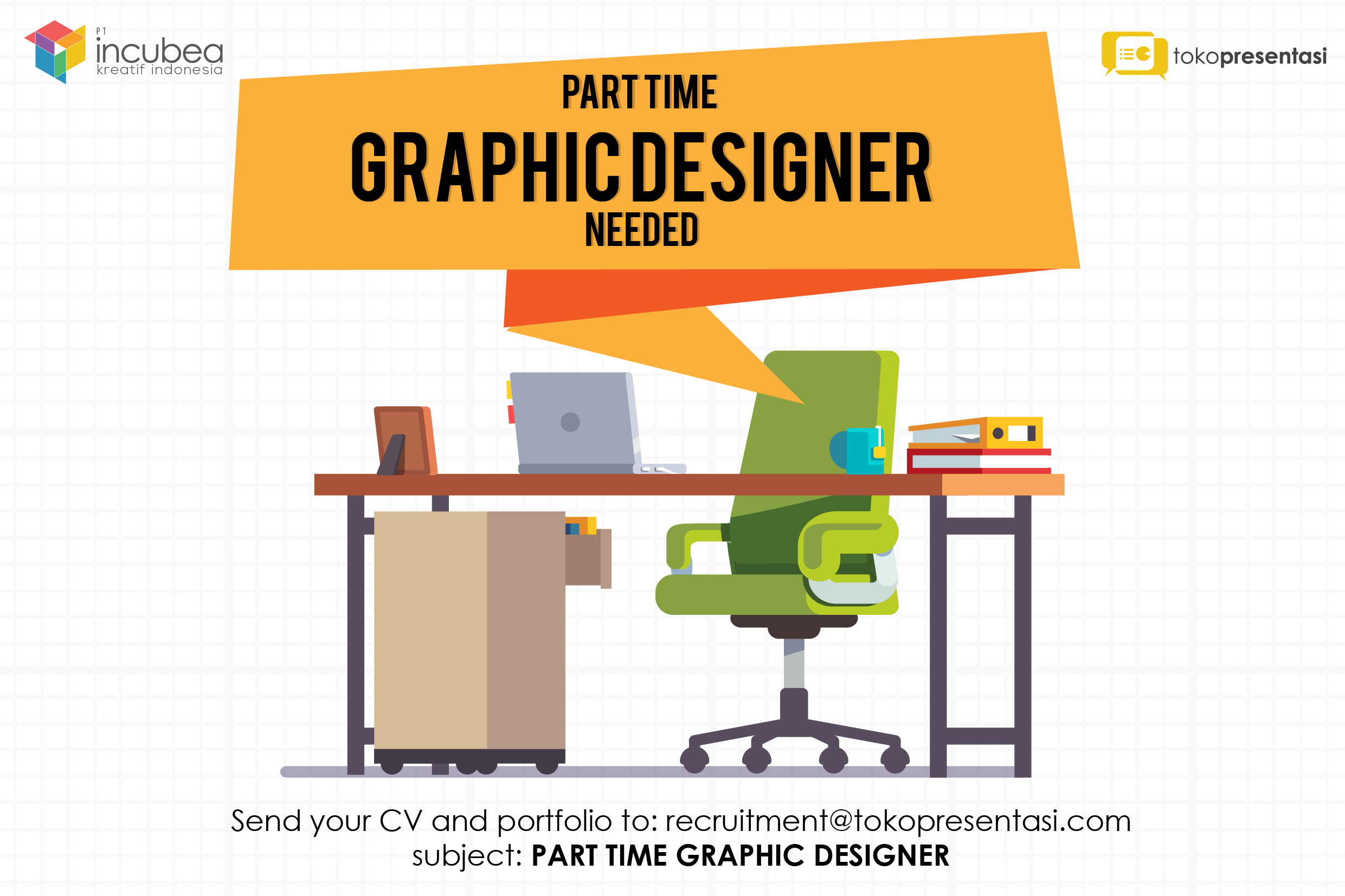 lowongan kerja desain grafis part time tokopresentasi