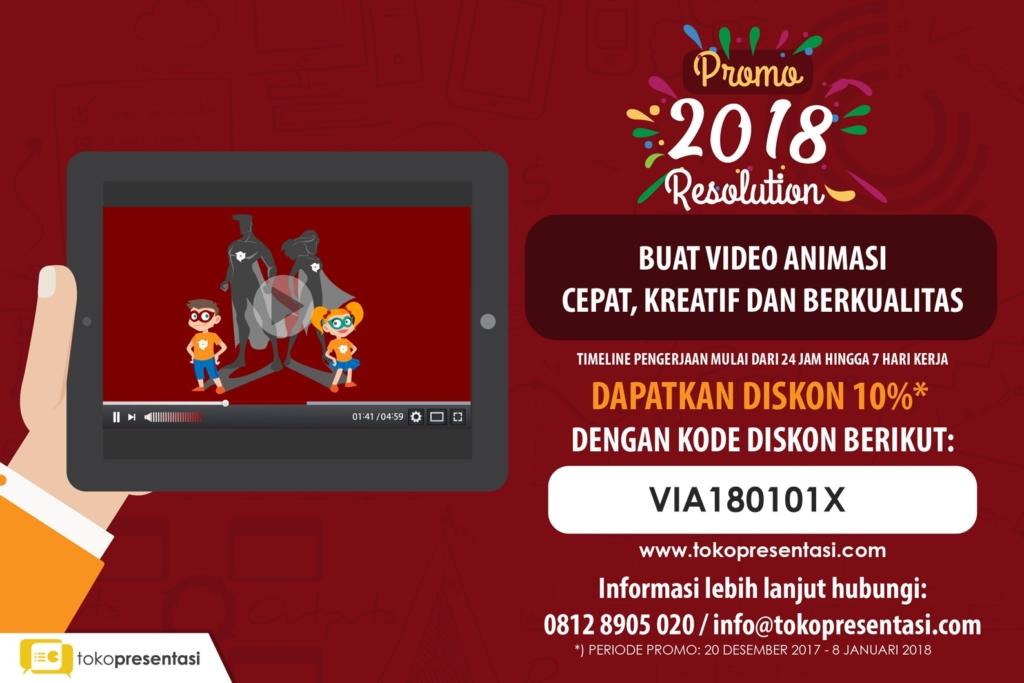 Kode Promo 2018 resolution video animasi tokopresentasi