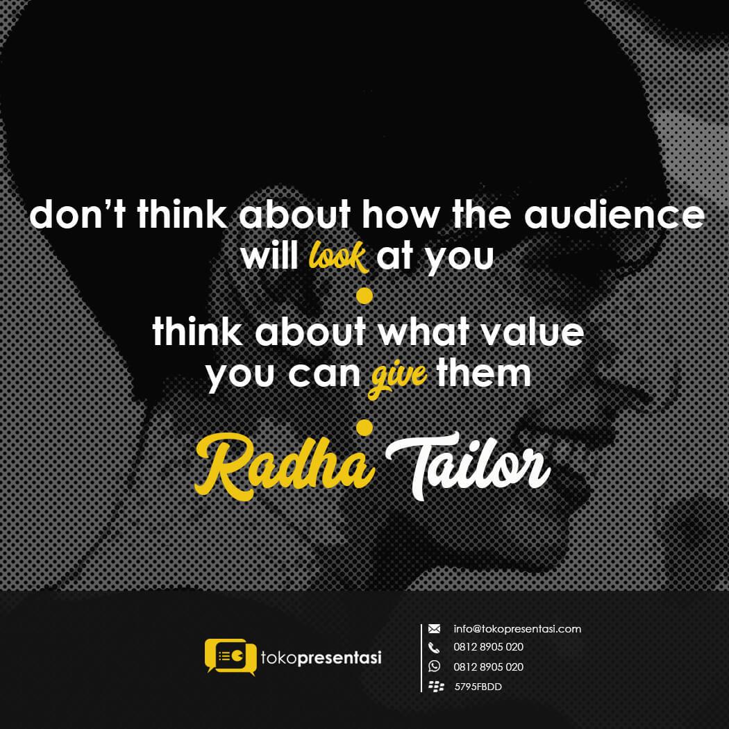 Quote Presentasi Radha Tailor jasa desain konten sosial media tokopresentasi