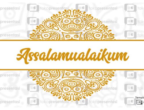 Template Powerpoint Gratis: Slide Assalamualaikum (BG 006)