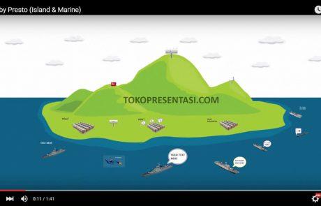 jasa desain prezi animasi marine & island portfolio prezi tokopresentasi.com