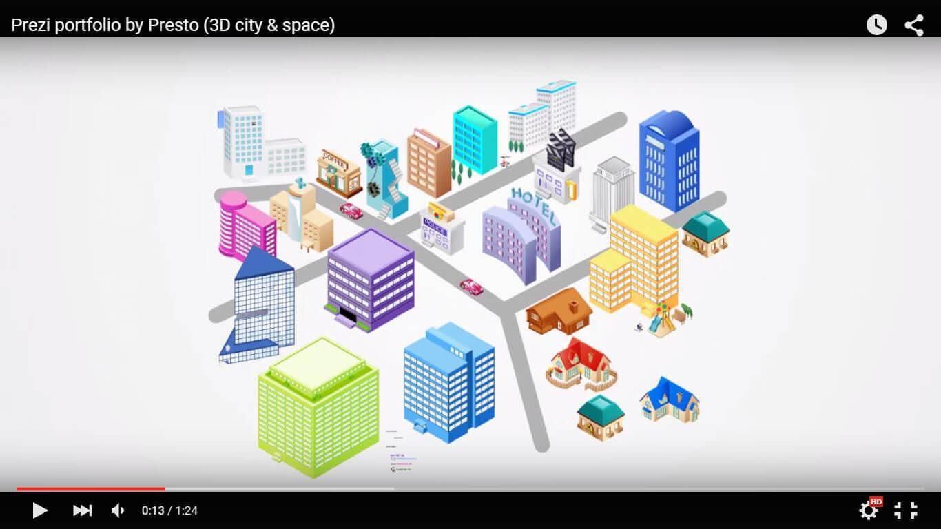 jasa desain prezi prezi animasi 3d space portfolio prezi tokopresentasi.com