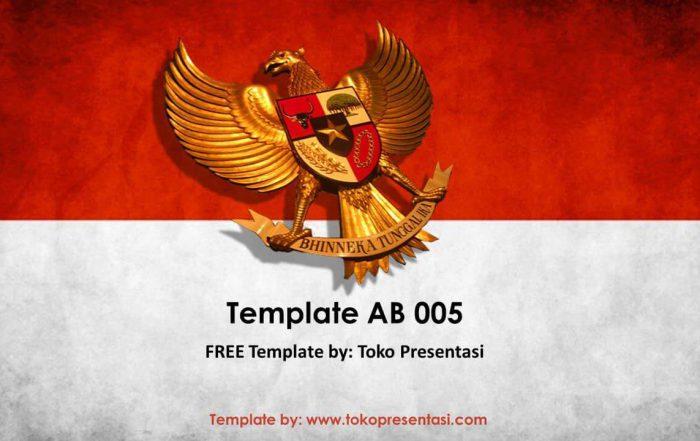 post template powerpoint animasi jasa ppt desain presentasi free template merah putih