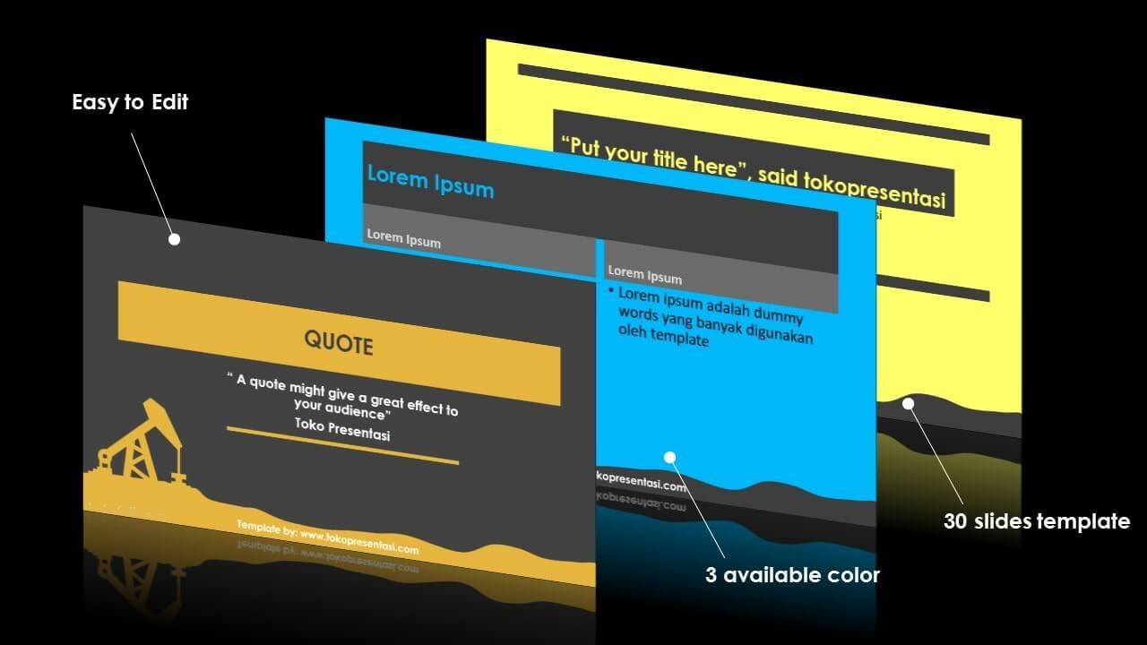 post template powerpoint animasi jasa ppt desain presentasi free template oil