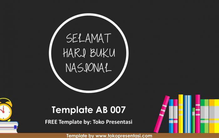 post template powerpoint animasi jasa ppt desain presentasi free template hari buku nasional