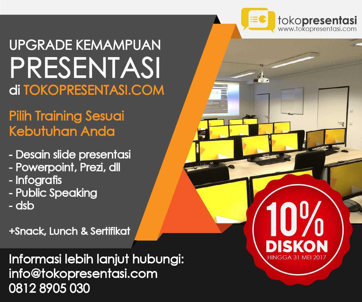 post diskon inhouse training presentasi desain ppt desain presentasi powerpoint