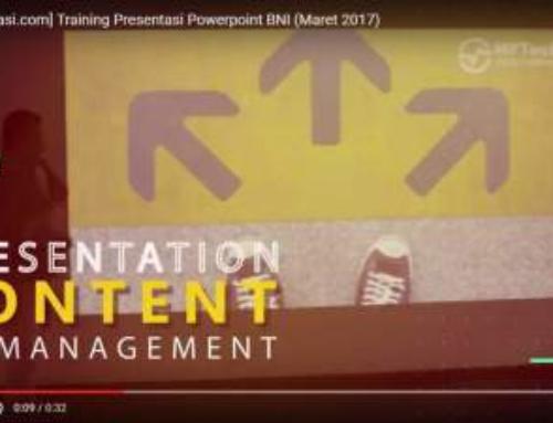 Dokumentasi Training Presentasi Powerful Point BNI Maret 2017