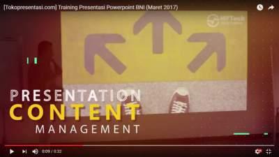 Tokopresentasi.com Training Presentasi Powerpoint Powerful Point BNI Maret training powerpoint sukses terbaik