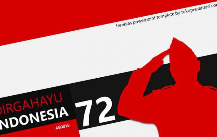 template gratis merah putih indonesia jasa desain presentasi keren