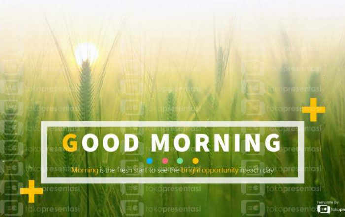 BG 001 Slide PPT gratis Good Morning tokopresentasi