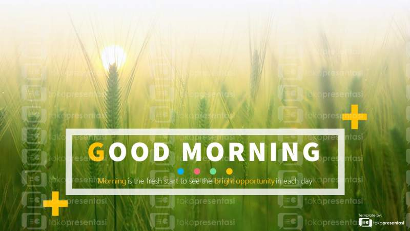 BG 001 Slide PPT gratis Good Morning tokopresentasi