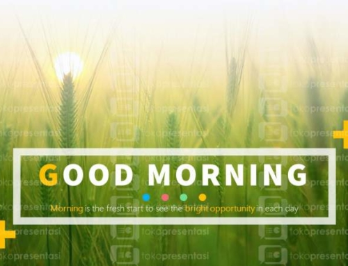 BG 001 : Slide PPT Gratis Good Morning 1
