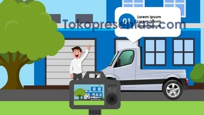 Hasil Desain Slide Presentasi Menarik tokopresentasi.com 2018 animasi mobil bergerak ppt