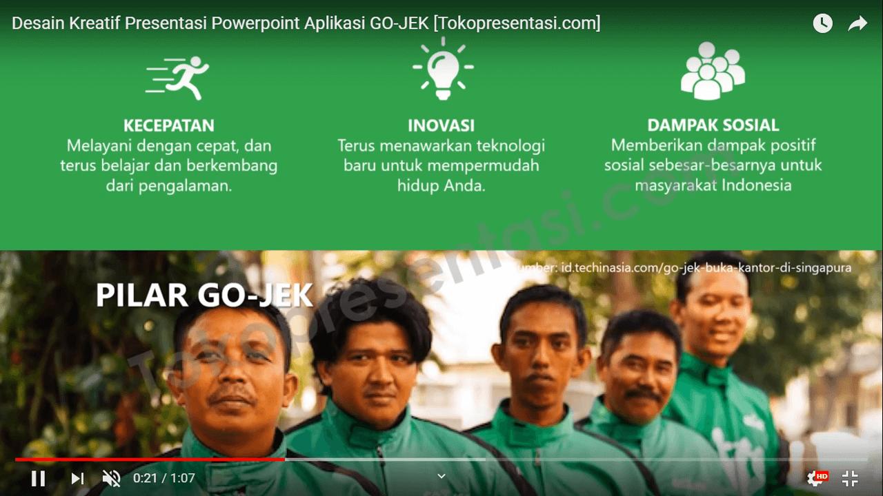 Desain Kreatif Presentasi Powerpoint Aplikasi GOJEK