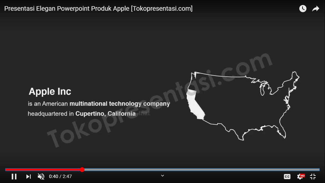 Desain Presentasi Elegan Powerpoint Produk Apple