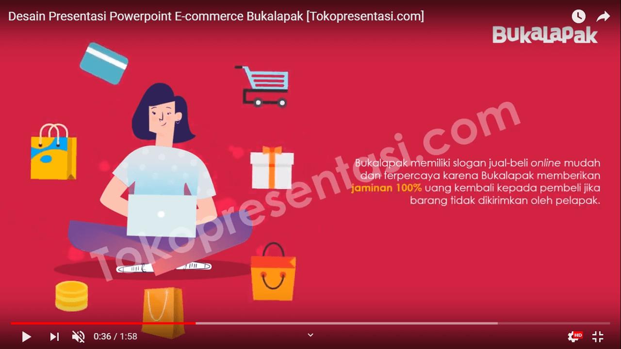 Desain Presentasi Powerpoint E-Commerce Bukalapak