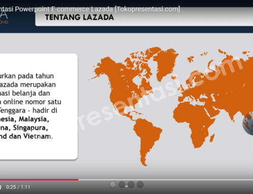 Desain Presentasi Powerpoint E-Commerce Lazada