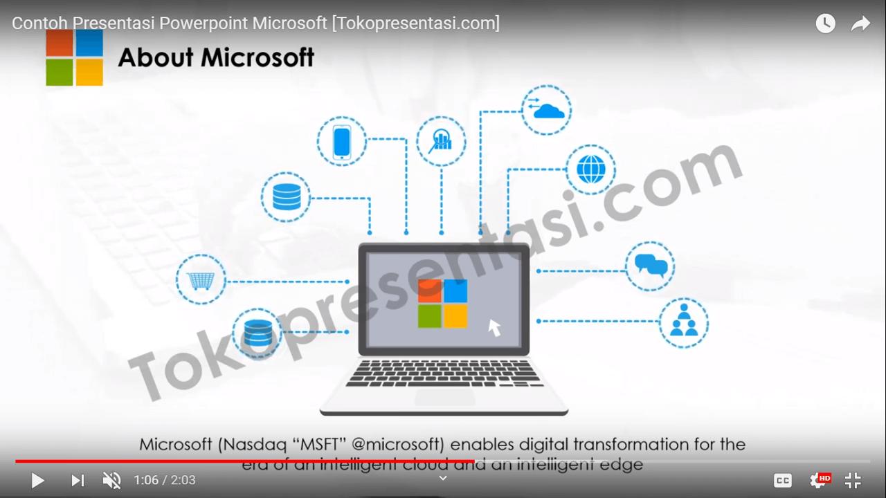 Desain Presentasi Powerpoint Microsoft