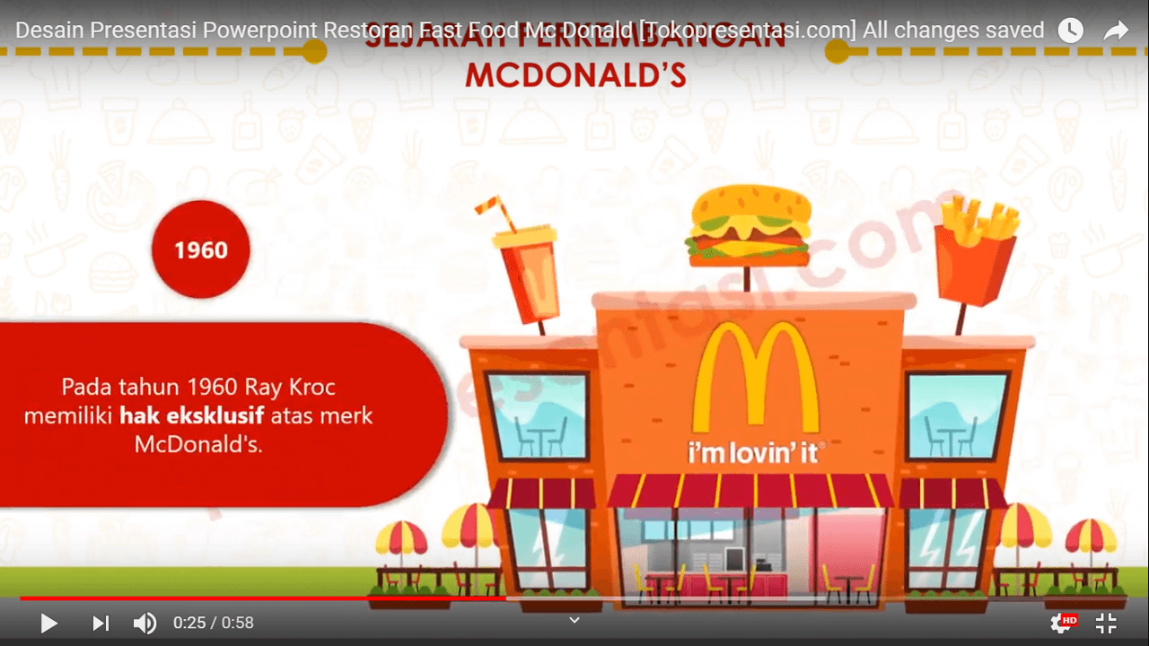 Desain Presentasi Powerpoint Restoran Fast Food Mc Donald