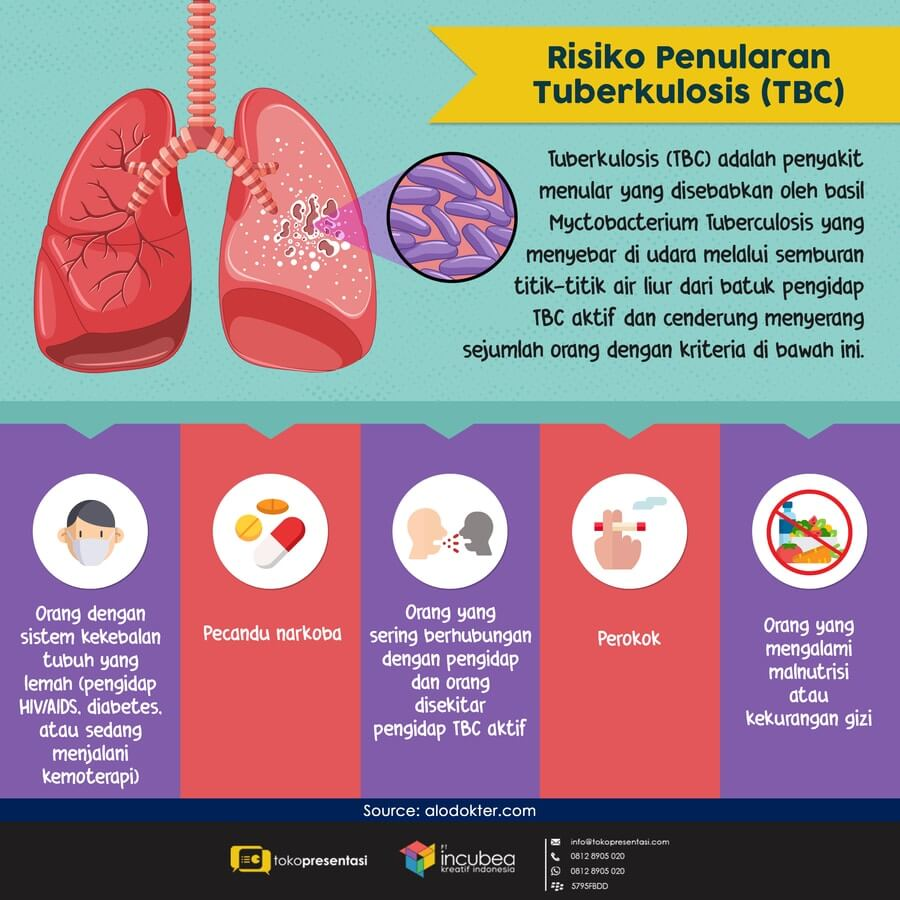 Infografis Risiko Penularan Tuberkulosis (TBC)