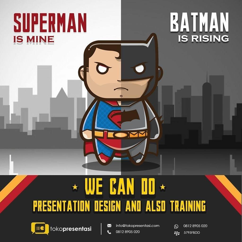 Konten Sosial Media - Kata Menarik Superman dan Batman