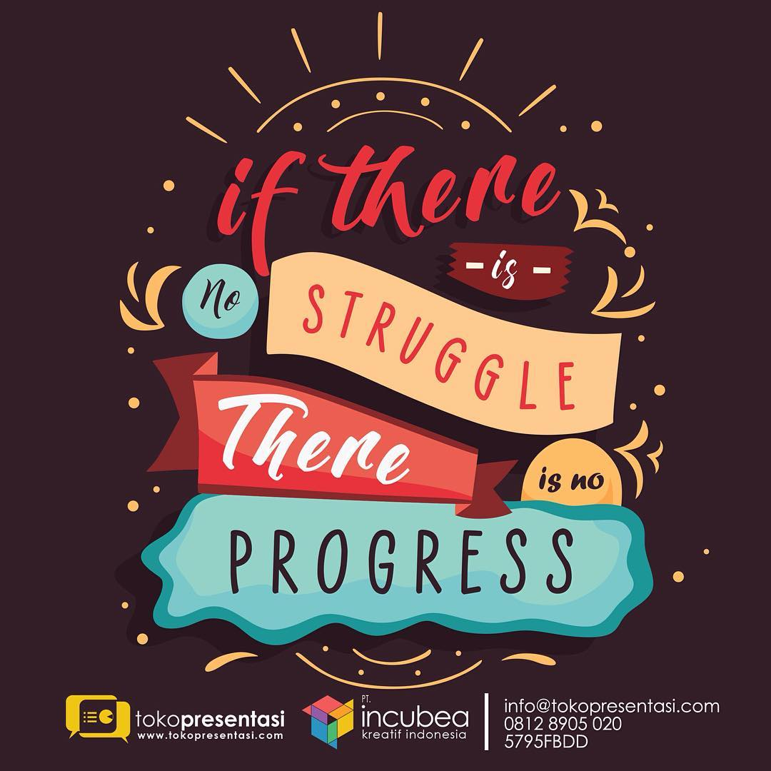 Konten Sosial Media - No Struggle No Progress Quotes