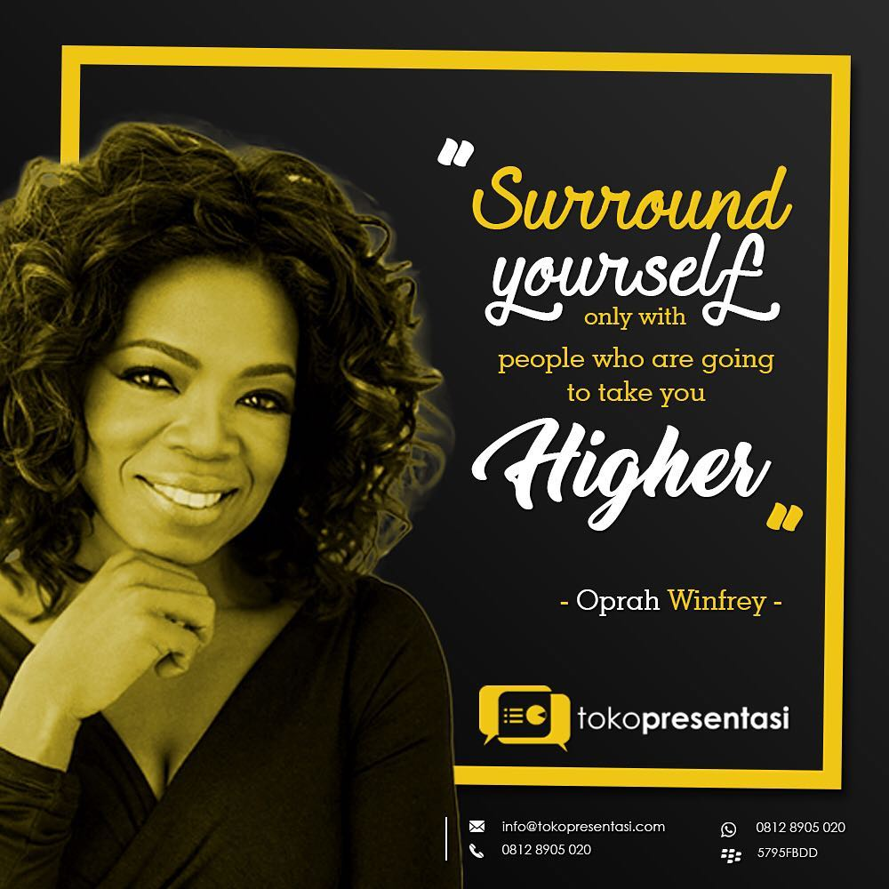 Konten Sosial Media - Oprah Winfrey Quotes