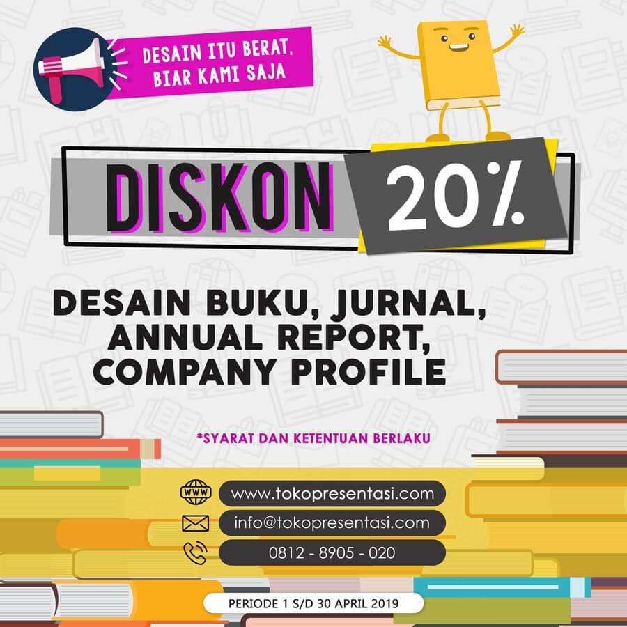 Promo Desain Company Profile, Desain Buku, Jurnal untuk Hari Buku Sedunia
