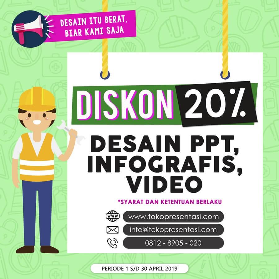 Promo Video Presentasi, Desain PPT, Desain Infografis untuk Hari K3 Sedunia