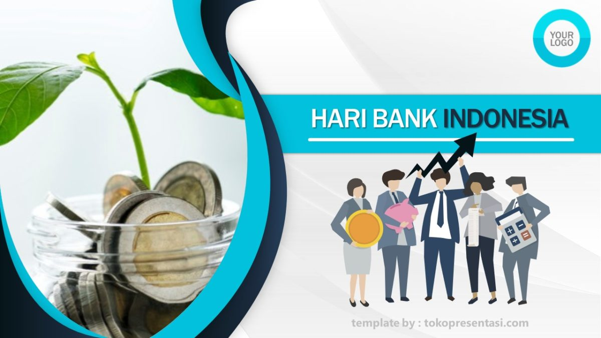 Template Powerpoint Gratis Tema Bank Indonesia Tokopresent
