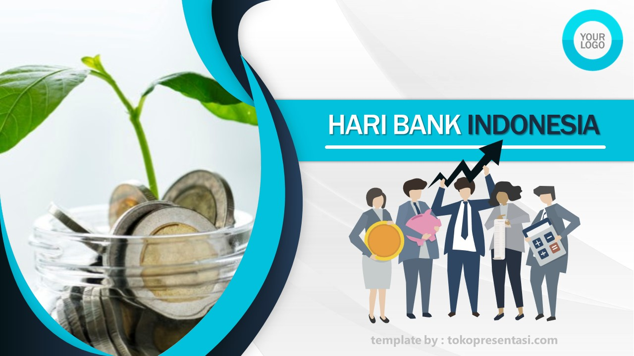 Template Powerpoint Gratis Tema Bank Indonesia Tokopresent