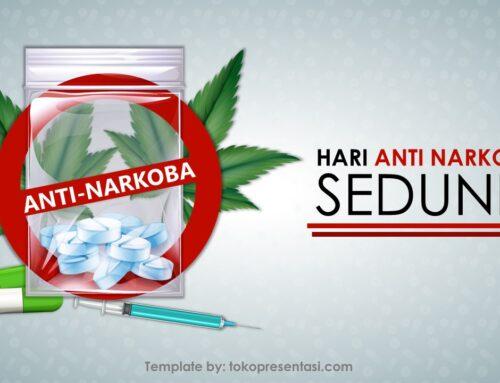 AB018 Template Powerpoint Gratis Tema Anti Narkoba