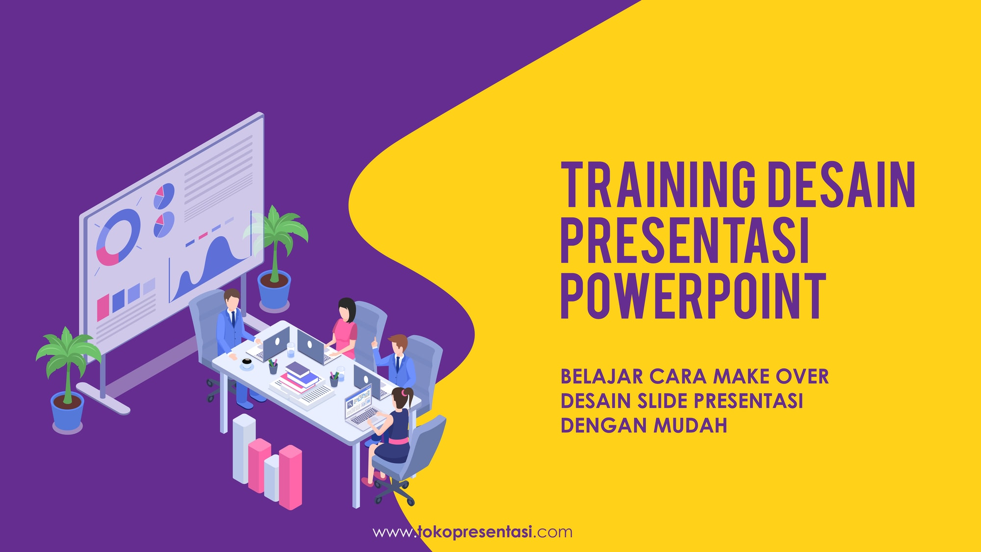 Pelatihan Desain Presentasi PowerPoint Telkom Corporate University Tokopresentasi