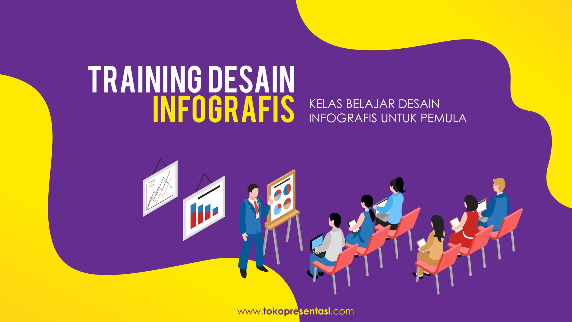 Pelatihan Training Desain Infografis PPT Corporate University Bulog Tokopresentasi