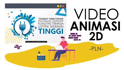 Jasa Video Animasi Motion Graphics 2D PLN Tokopresentasi