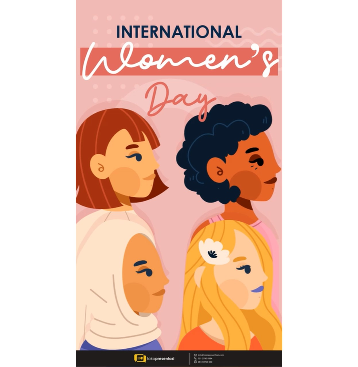 Video Infografis Animasi 2d - Womens Day Instagram Story