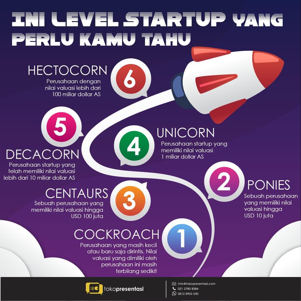 Infografis Level Startup