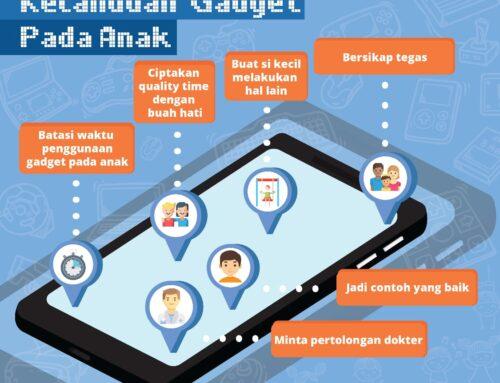 Infografis Tips Mencegah Kecanduan Gadget Pada Anak