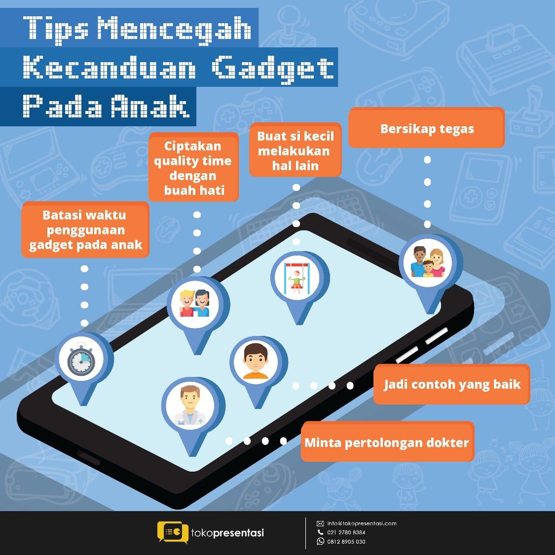 infografis tips mencegah kecanduan gadget
